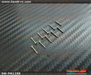 Hawk Creation M1.2x8mm Pan Head Stainless Steel Screws (10pcs)