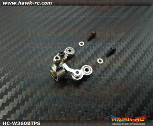 Hawk Creation Full Bearing Tail Pitch Slider (3mm Shaft, Silver) For Warp 360