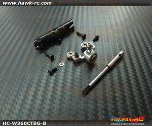 Hawk Creation Light Weight Tail Grip Assembly (3mm Shaft, Black) For Warp 360