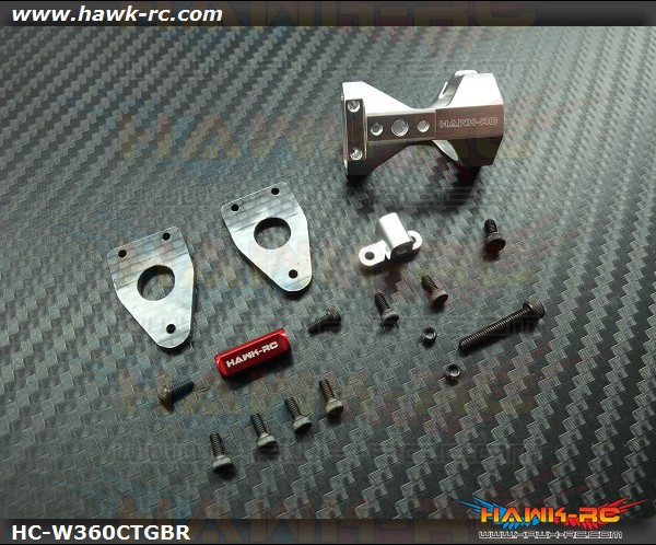 Hawk Creation Upgarde Tail Gear Unit (Silver & Red C/M) For Warp 360