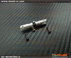 Hawk Creation Trust Bearing Tail Grip Set (3mm Shaft, Silver) For Warp 360