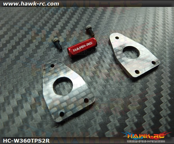Hawk Creation Reinforcement Tail Side Frame With Cross Member V2 (Red) For Warp 360