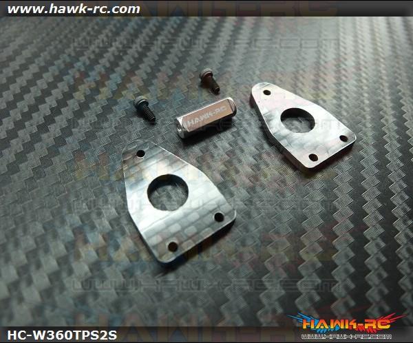 Hawk Creation Reinforcement Tail Side Frame With Cross Member V2 (Silver) For Warp 360