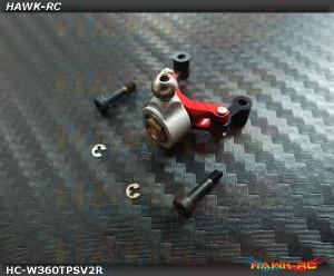 Hawk Creation Tail Pitch Slider V2 (3mm Shaft, Silver/Red) For Warp 360