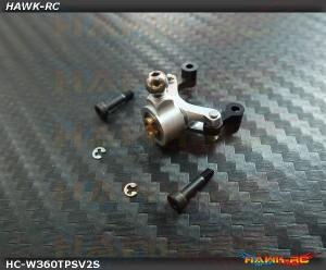 Hawk Creation Tail Pitch Slider V2 (3mm Shaft, Silver) For Warp 360