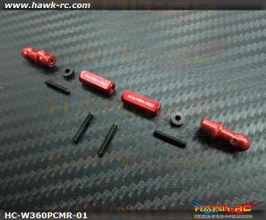 Hawk Creation Breakaway Canopy Mounting Set (Red) For Warp 360