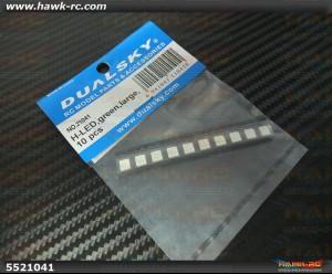 DualSky HORNET 460 H-LED Green Large 10pcs (Optional Parts)
