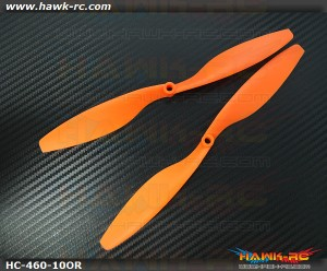 Hawk Creation 10x45 Propeller For Qudacopter (1pair, Orange)