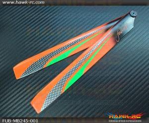 FUSUNO Ex Stiff XS 245mm Neon Plastic Main Blades (Compatible Blade 300X)
