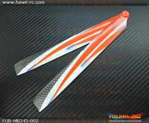 FUSUNO Ex Stiff XS245mm R-W Neon Plastic Main Blades (Compatible Blade 300X)