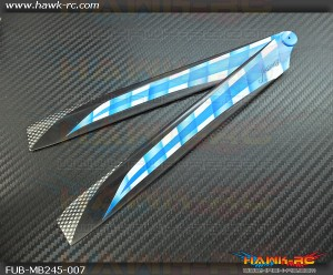 FUSUNO Ex Stiff XS 245mm Deadlock Neon Plastic Main Blades (Compatible Blade 300X)