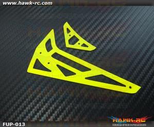 Fusuno Neon Yellow 1.2mm Fiberglass Hor/Ver Fins - Trex 450Pro/V2