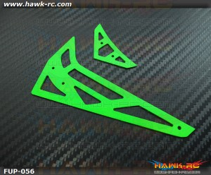 Fusuno Neon Green 1.2mm Fiberglass Hor/Ver Fins - Trex 450Pro/V2