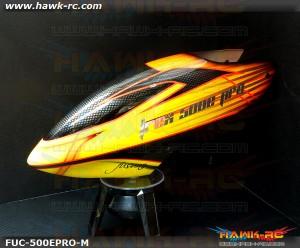 FUSUNO New Design Airbrush Fiberglass Canopy Trex 500E Pro Type M