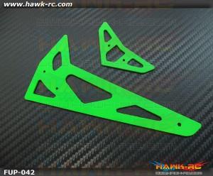 FUSUNO Neon Green Fiberglass Hor/Ver Fins Trex 500 XL 1.5mm