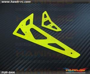FUSUNO Neon Yellow Fiberglass Hor/Ver Fins Trex 500 XL 1.5mm