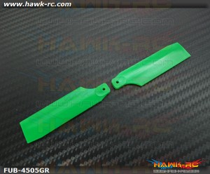 FUSUNO Extreme Stiff XS Plastic Neon Green Tail Blade 62mm-450 Size