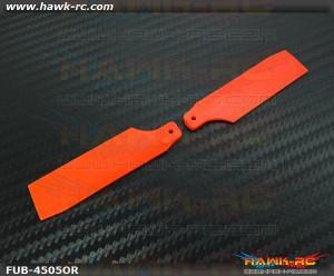 FUSUNO Extreme Stiff XS Plastic Neon Orange Tail Blade 62mm-450 Size