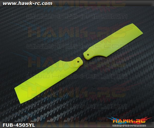 FUSUNO Extreme Stiff XS Plastic Neon Yellow Tail Blade 62mm-450 Size
