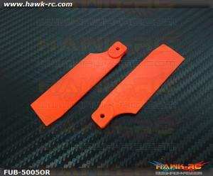 FUSUNO Extreme Stiff XS Plastic Neon Orange Tail Blade 72mm-500 Size