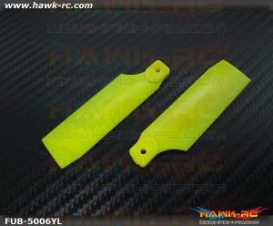 FUSUNO Extreme Stiff XS Plastic Neon Yellow Tail Blade 72mm-500 Size