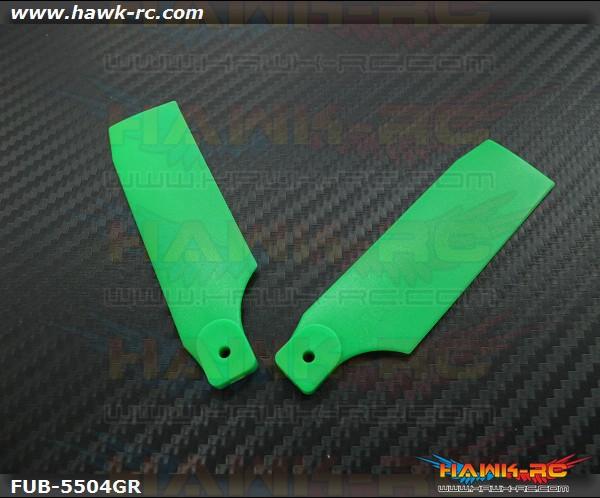 FUSUNO Extreme Stiff XS Plastic Neon Green Tail Blade 85mm-550 Size