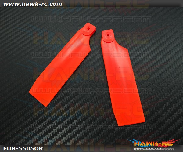 FUSUNO Extreme Stiff XS Plastic Neon Orange Tail Blade 85mm-550 Size
