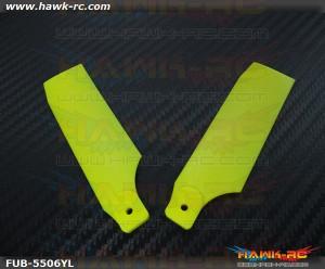 FUSUNO Extreme Stiff XS Plastic Neon Yellow Tail Blade 85mm-550 Size