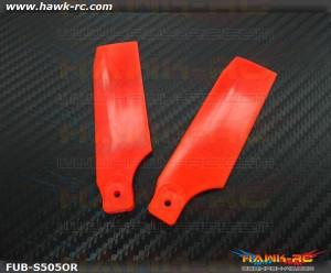 FUSUNO Extreme Stiff XS Plastic Neon Orange Tail Blade 95mm-600 Size