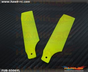 FUSUNO Extreme Stiff XS Plastic Neon Yellow Tail Blade 95mm-600 Size