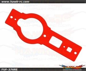 FUSUNO Neon Red Fiberglass Bottom Frame Trex 450 V2