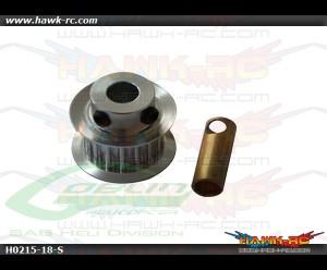 SAB Aluminum Motor Pulley Z18 - Goblin 500