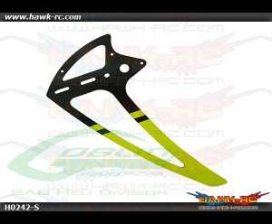 SAB Carbon Fiber Tail Fin Yellow - Goblin 500