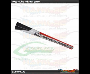 SAB Carbon Fiber Tail Boom White/Red - Goblin 500