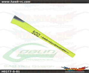 Glass Fiber Tail Boom Yellow - Goblin 500