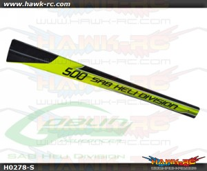 SAB Carbon Fiber Tail Boom Yellow/Black - Goblin 500