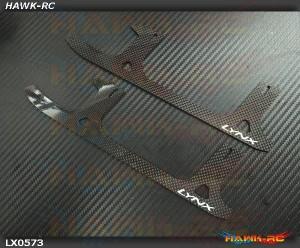 LYNX Ultra Flex Landing Gear Skid - Carbon - GOBLIN 500