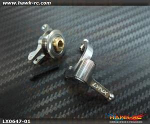 LYNX Precision Tail Bell Crank Lever Pro Edition Silver - Goblin 500/570