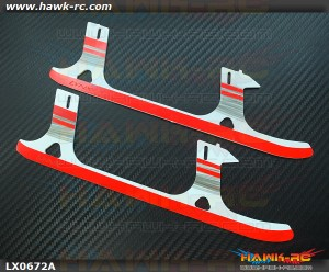 LYNX Ultra Flex Landing Gear Skid (G10, White Black Red ) GOBLIN 500