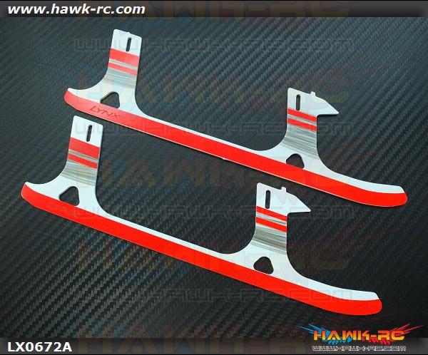 LYNX Ultra Flex Landing Gear Skid (G10, White Black Red ) GOBLIN 500