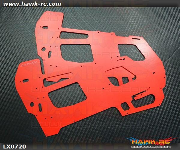 LYNX GOBLIN 500 - Ultra Main Frame Set - G10 2mm - Red
