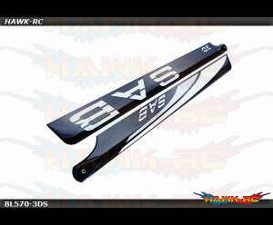 SAB Black Line 570mm Main Blades (Silver)