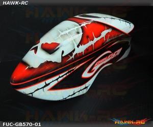 Fusuno Masky Airbrush Fiberglass Canopy + Boom Set - Goblin 570