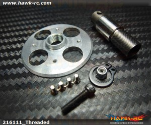 X3 Crown Gear Hub with One Way Sleeve (New Threaded Version)