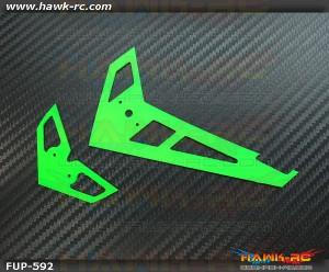 FUSUNO Neon Green Fiberglass Hor/Ver Fin Compatible With Gaui X3