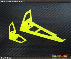 FUSUNO Neon Yellow Fiberglass Hor/Ver Fin Compatible With Gaui X3