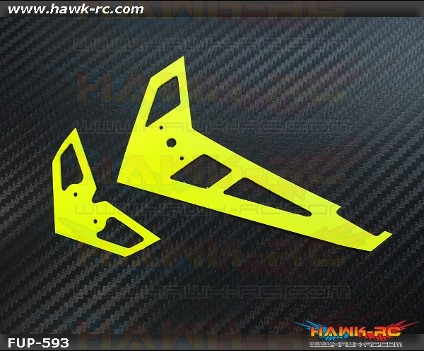 FUSUNO Neon Yellow Fiberglass Hor/Ver Fin Compatible With Gaui X3