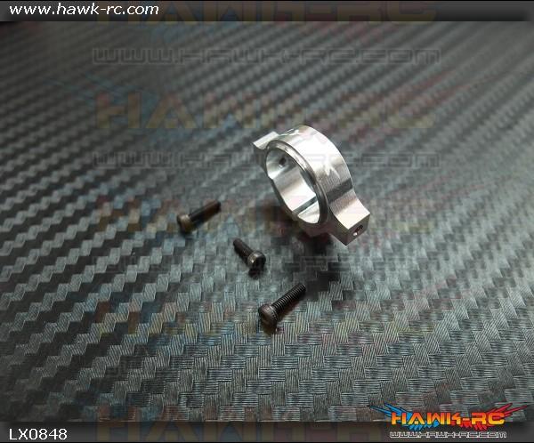 LYNX 7075-T6 Tail Boom Clamp Silver - Gaui X3