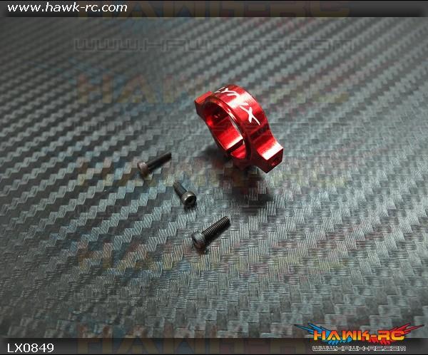 LYNX 7075-T6 Tail Boom Clamp Red - Gaui X3