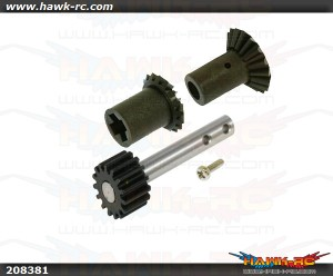 X5 Front drive gear set and Pulley Shaft with Steel Gear (15T)